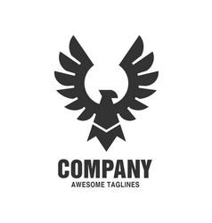 falcon eagle bird logo black color vector image