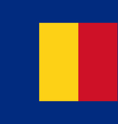 flag in colors of romania image vector image