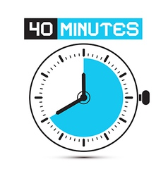 Forty Minutes Watch - Clock vector