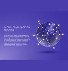 global communication network flat design for web vector image