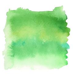 Green color watercolor hand drawn gradient banner vector