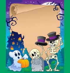 Halloween parchment 9 vector