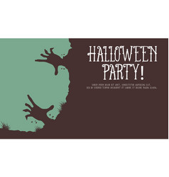 Halloween style greeting card collection vector