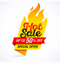 Hot sale banner special offer up to 50 off vector