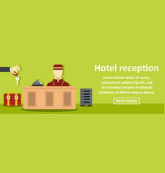 hotel reception banner horizontal concept vector image