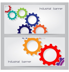 Industrial banner background concept vector