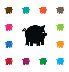 Isolated piggy icon pig element can be vector