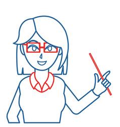 Isolated teacher design vector