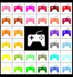 joystick simple sign felt-pen 33 colorful vector image