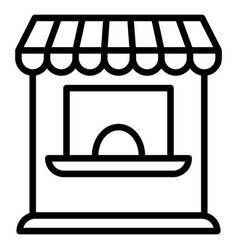 kiosk icon outline style vector image