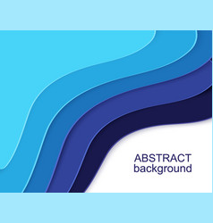layered paper cut shapes 3d abstract background vector image