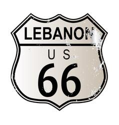 Lebanon route 66 vector
