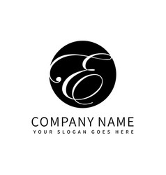 letter ea luxury logo design vector image
