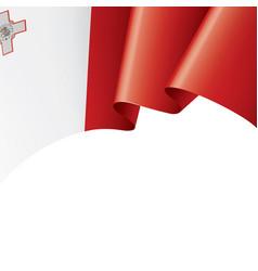 Malta flag on a white vector