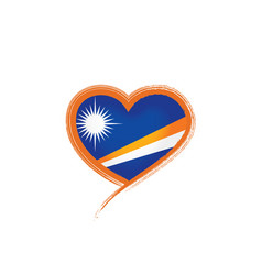 Marshall islands flag on a vector