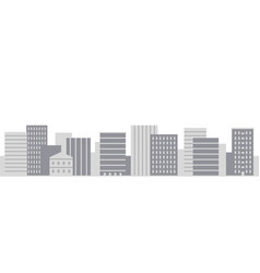 modern city panorama in simple flat style vector image