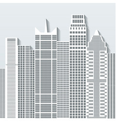 modern cityscape with office buildings and vector image