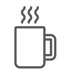 mug line icon kitchen and drink coffee sign vector image