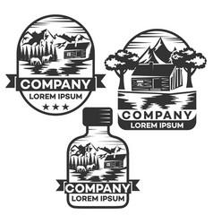 nature bottle logo vector image