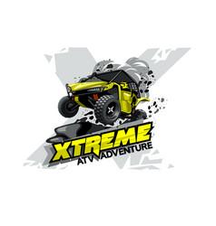 Off-road atv buggy logo extreme adventure vector