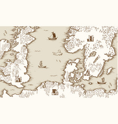Old map of the north sea britain and scandinavia vector