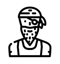 Pirate person line icon vector
