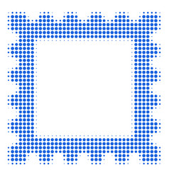 postage stamp halftone icon vector image