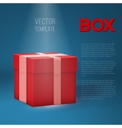 Realistic 3D Present Gift Box on Stage vector
