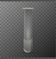 realistic transparent flask for chemicals vector image