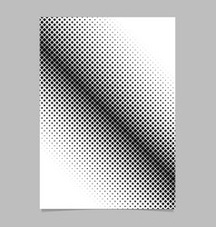 retro abstract halftone diagonal square vector image