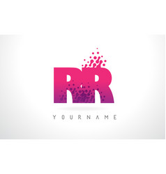 Rr r letter logo with pink purple color and vector