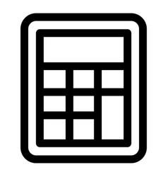 School calculator icon outline style vector