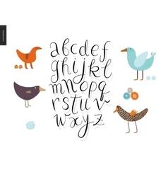 Script alphabet 4 vector