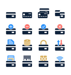 set credit card in modern style high quality vector image