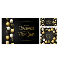 set luxury christmas and new year square and vector image
