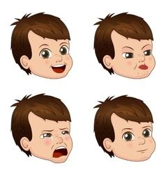 set of cute little boy faces vector image
