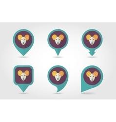 Sheep mapping pins icons vector image
