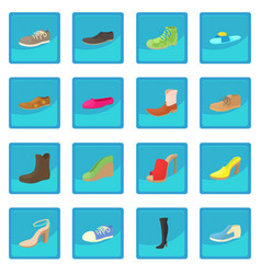 Shoes icon blue app vector