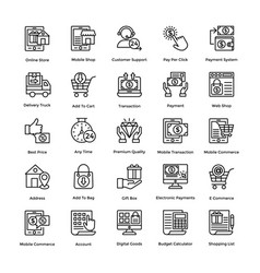 Shopping colored icons set 6 vector