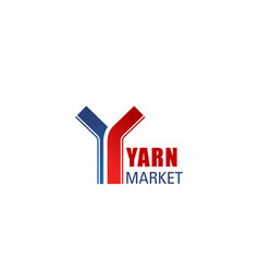 sign for yarn market vector image