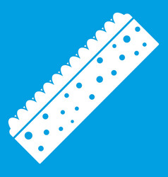 Sponge for cleaning icon white vector
