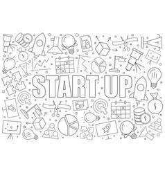 start up background from line icon vector image