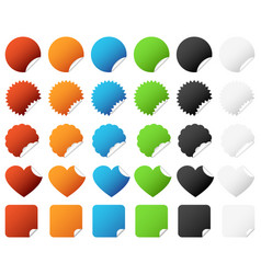 sticker badge set a set of colorful sticker vector image