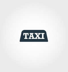 taxi creative icon simple element vector image