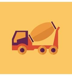 Truck Transportation Flat Icon vector image