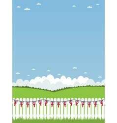 uk picket fence vector image