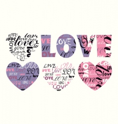 valentine illustration heart with love vector image