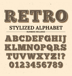 Vintage typography font decorative retro vector