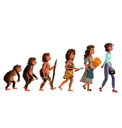 Woman evolution cartoon vector