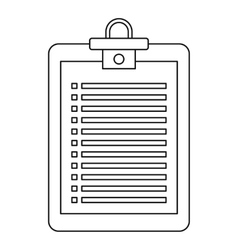 Checklist icon outline style vector image vector image